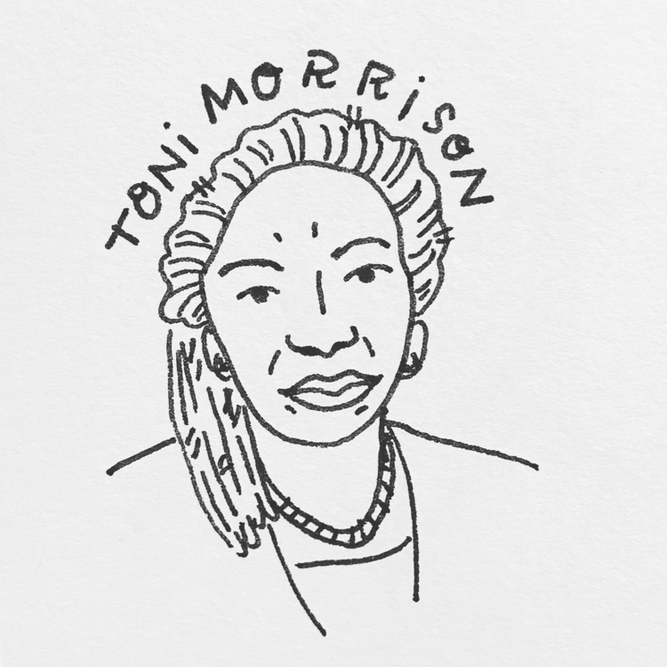 Daily Drawing - Toni Morrison D - wawawawick | ello