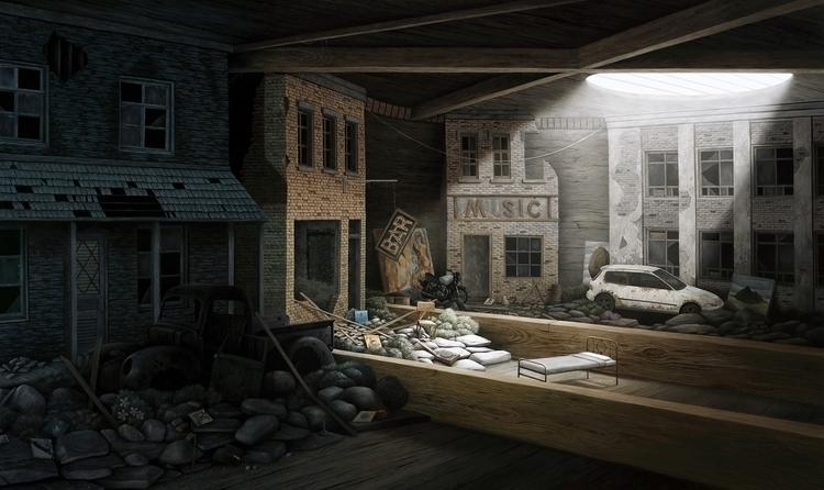 moody surreal oil painting Jeff - scene360 | ello