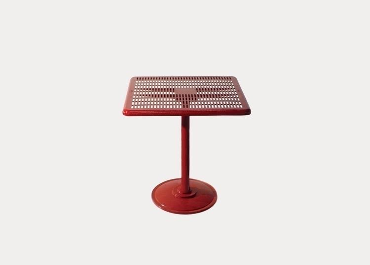 durable cast aluminium tables m - streetfurniture | ello