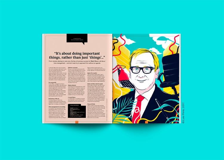 Editorial illustration Mark Dix - luispintos | ello