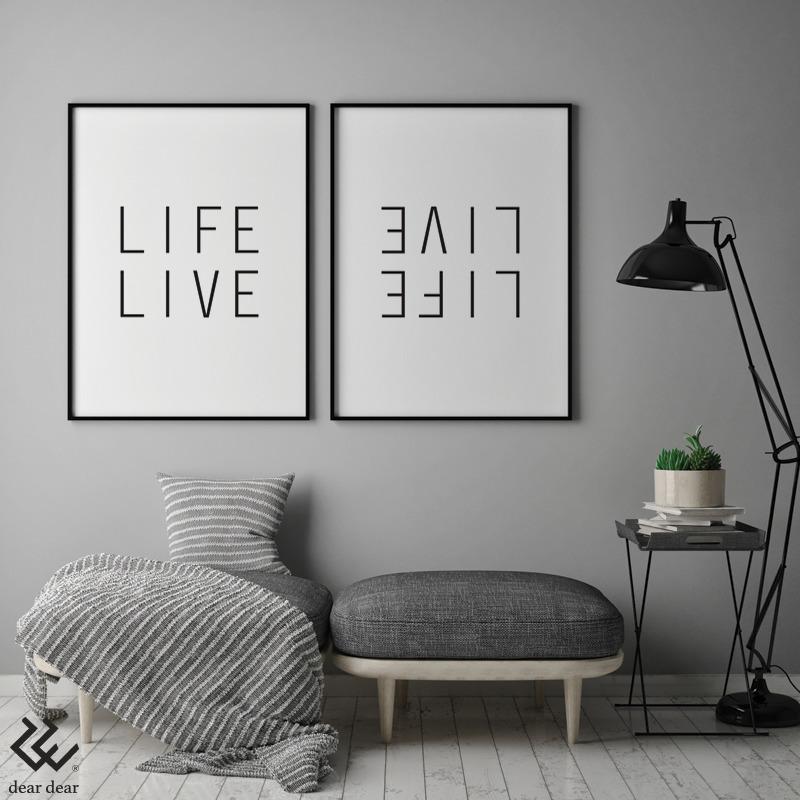 Life Live - Art Print - art, design - deardear | ello