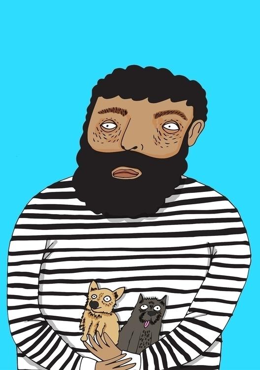 Big Guys, small dogs - illustrator - jessicavaughan   ello