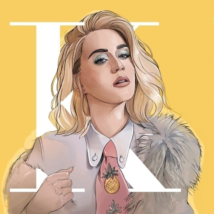 Katy Perry Illustration - katy, katyperry - fmonroyr | ello