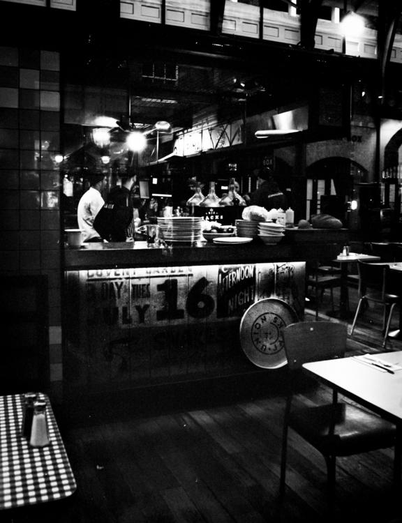 16. Pizza bar London. Nikon EM  - paulgriffiths | ello