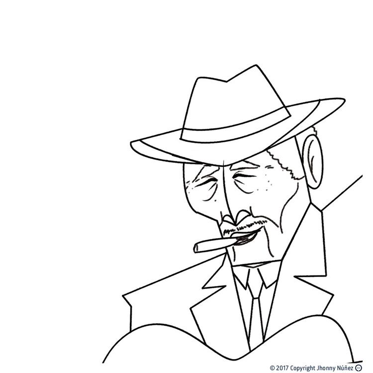 Compay segundo, sketch  - JhonnyNúñez - dblackhand | ello