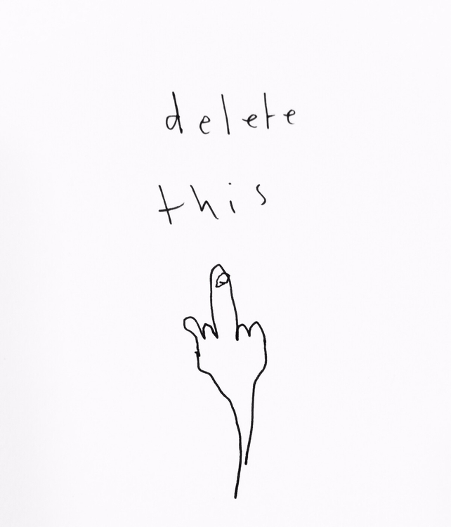 textandimage, delete, linedrawing - liquily | ello