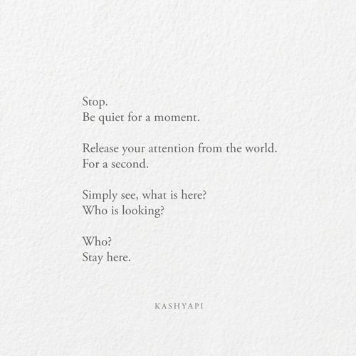 Quiet moment 01 / Stop. quiet m - kashyapi   ello