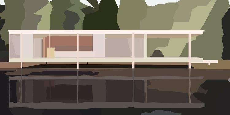 Farnsworth House Part 2 - illustration - sophieillustration | ello