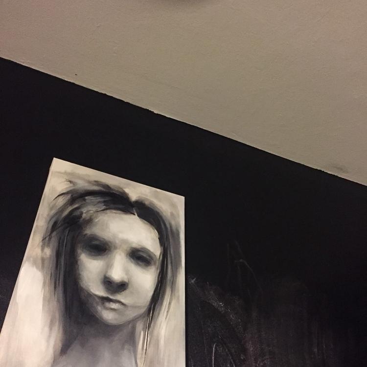 art, acrylic, monochromatic, blackandwhite - nichtmehr | ello