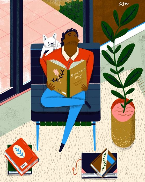 Frenchies Reading bulldog - Proust - alexander_mostov | ello