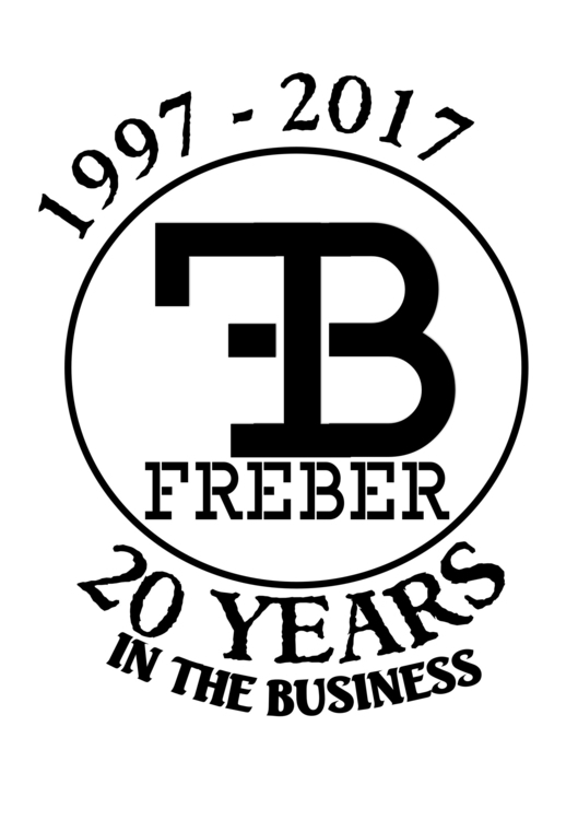 logo celebrate 20 years legacy - freber | ello