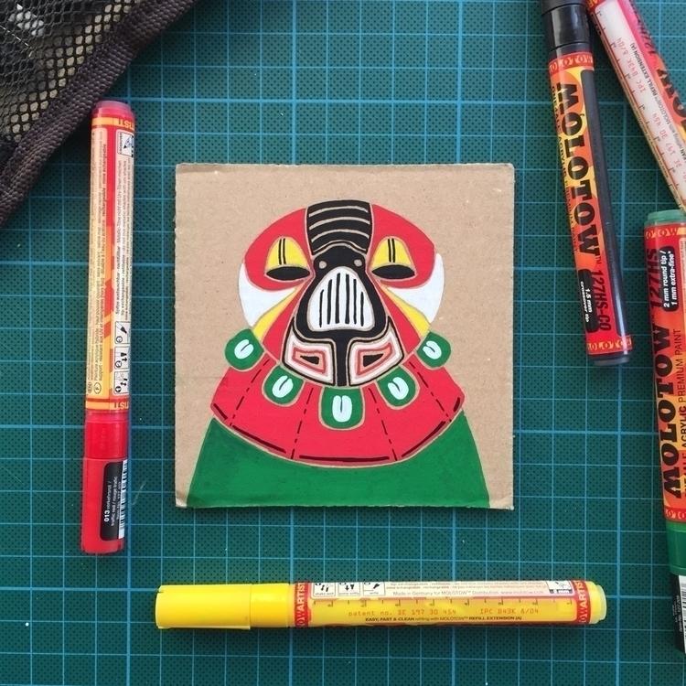 Cardboard fun - illustration, drawing - mariosupa   ello