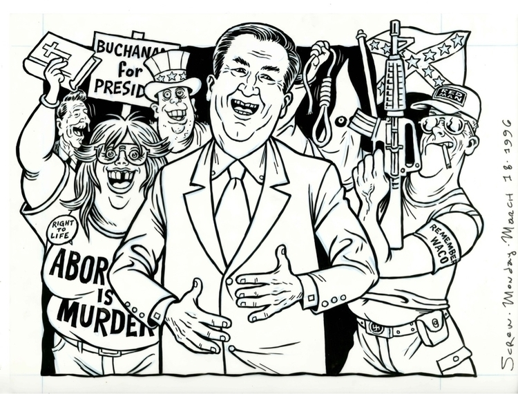 Pat Buchanan cover art SCREW Ma - dannyhellman | ello