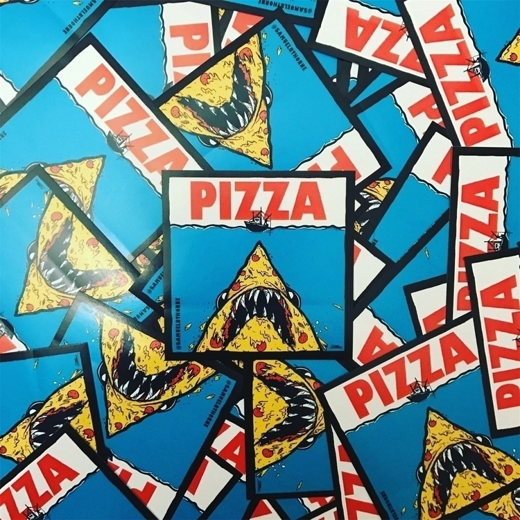 Pizza Jaws stickers stock bundl - samuelbthorne   ello