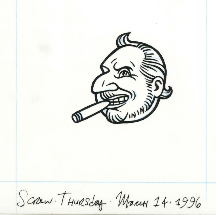 Al Goldstein icon SCREW Magazin - dannyhellman | ello