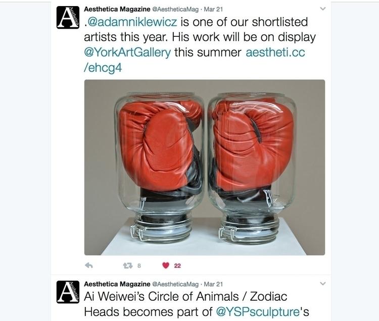 UK bound - art,#sculpture,#conceptual,#UK,#boxing,#gloves,#jars,Aesthetica,#magazine - adamniklewicz | ello