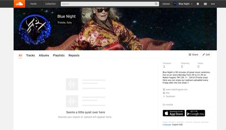 find Soundcloud !! Podcasts sho - bluenightonair | ello