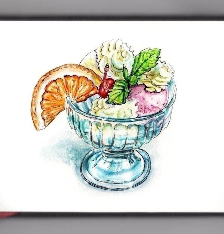 Joy Sweet Treat - watercolor, watercolour - doodlewash | ello