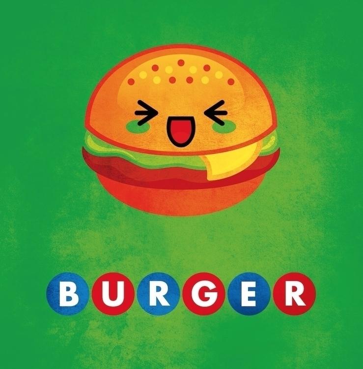 Kawaii burger illustration - jamesenjoyrelax | ello