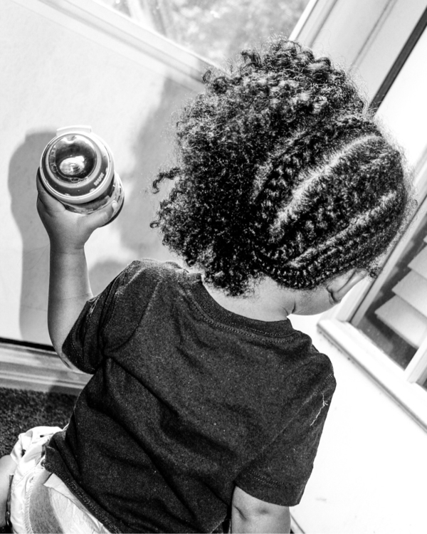 braids, curls, blackandwhitephotography - saywhahnah | ello