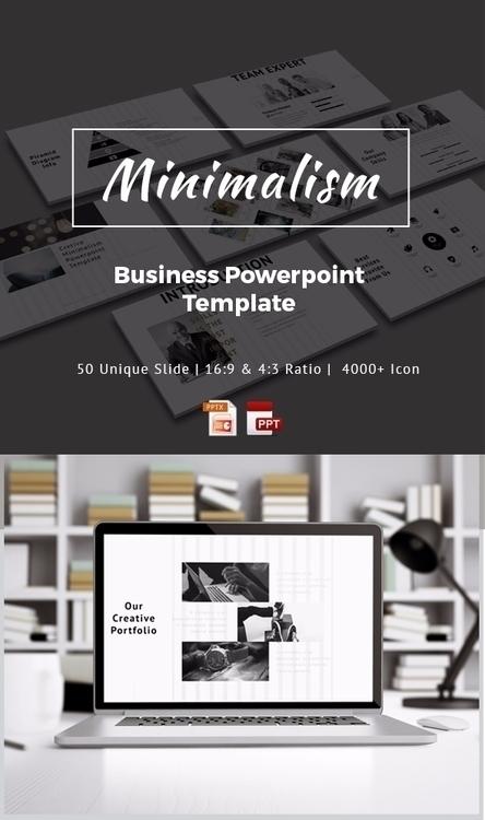 Minimalism PowerPoint Template - swpnobaz   ello