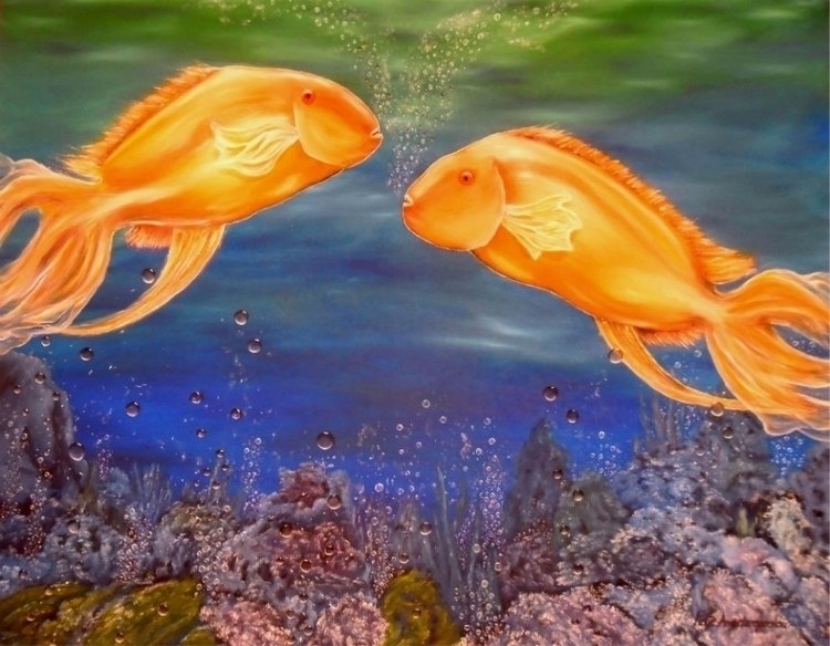 painting, art, underwater, ocean - fayeanastasopoulou | ello