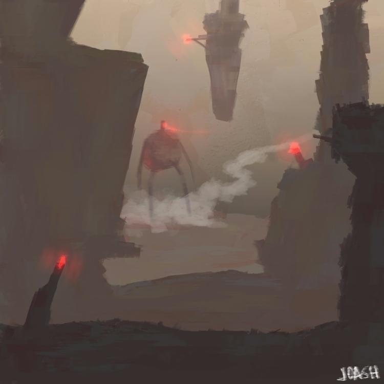 Depiction Futuristic Hell - yokona | ello