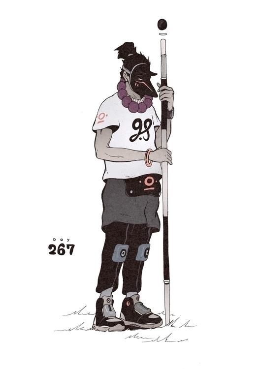 Day 267/365: Glaring Fox - illustration - 1sles | ello
