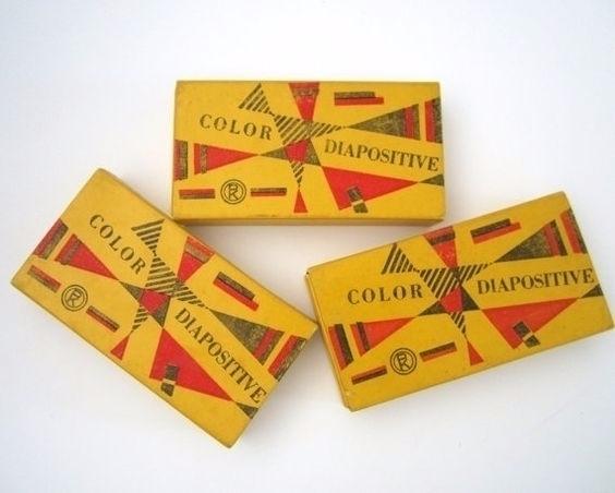 Vintage Photographic Slide Boxe - p-e-a-c | ello