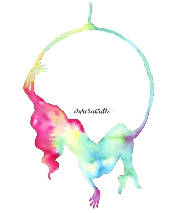 Aerial Hoop - Lyra. Silhouette  - auroragritti | ello