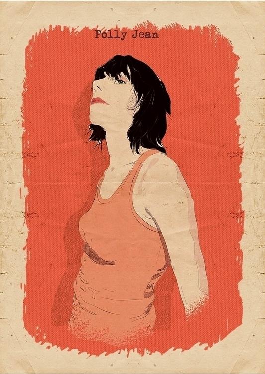 Polly - PJHarvey, illustration, sketch - zoe_vadim | ello