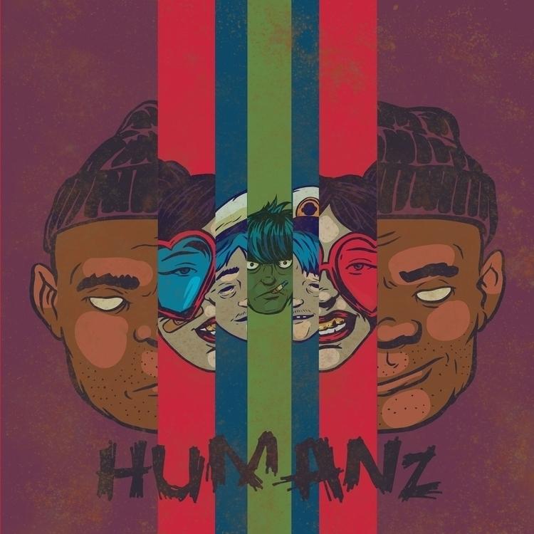 excited Gorillaz Music - illustration - thomcat23 | ello