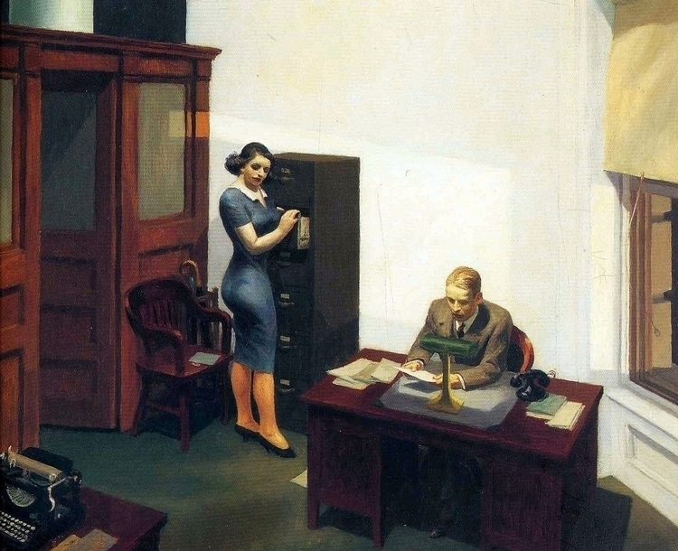 Edward Hopper: Office Night, 19 - arthurboehm | ello