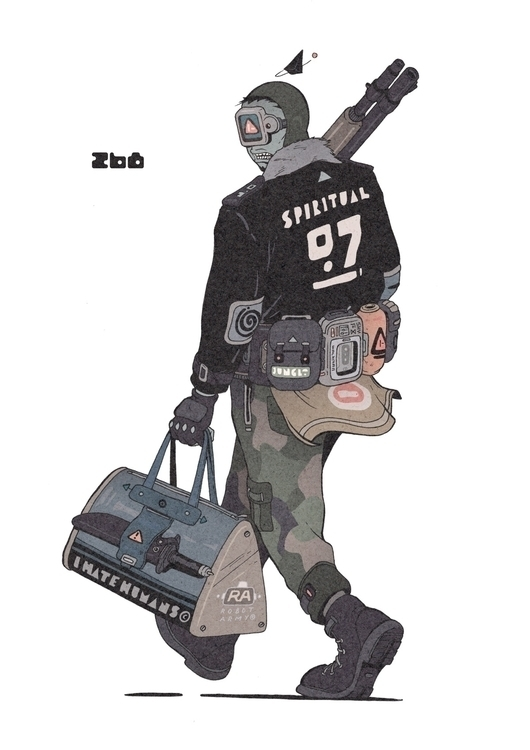 Day 268/365: Robot Army - illustration - 1sles | ello