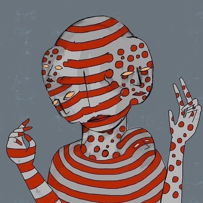 sneaks stripes - polkadots, multipleheads - catswilleatyou   ello