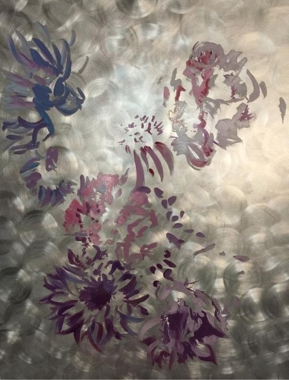 enamel aluminum - wip, flowers - markedarts | ello