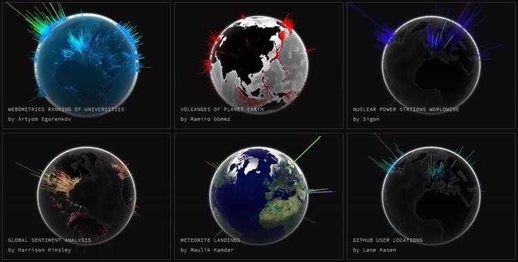WebGL Globe - visualization, data - valosalo   ello