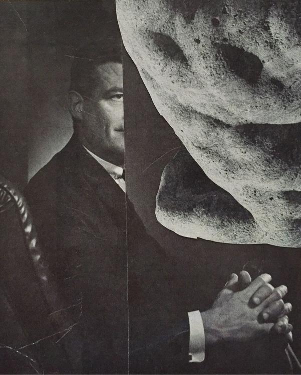Curator' cut paper collage - art - gluefinger   ello