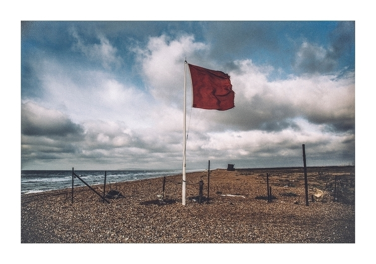 'Red Warning Flag Beach, Dungen - timsinclair1961 | ello