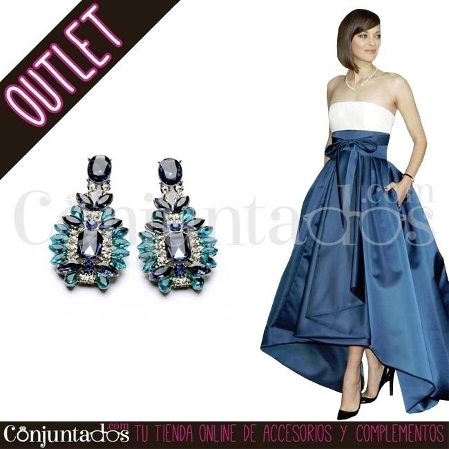 Pendientes de cristales azules  - conjuntados_com   ello
