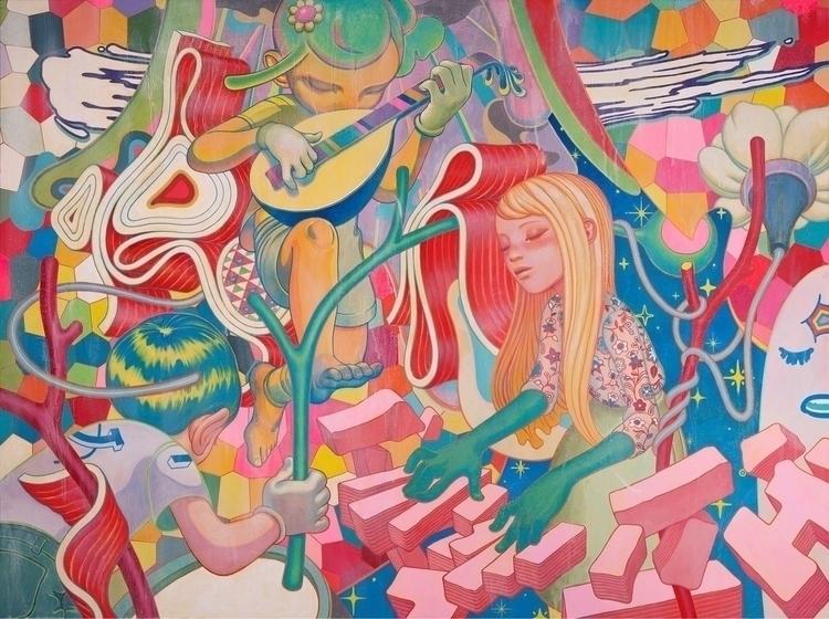 JAM. Acrylic Canvas, 80x60, 201 - jamesjean | ello