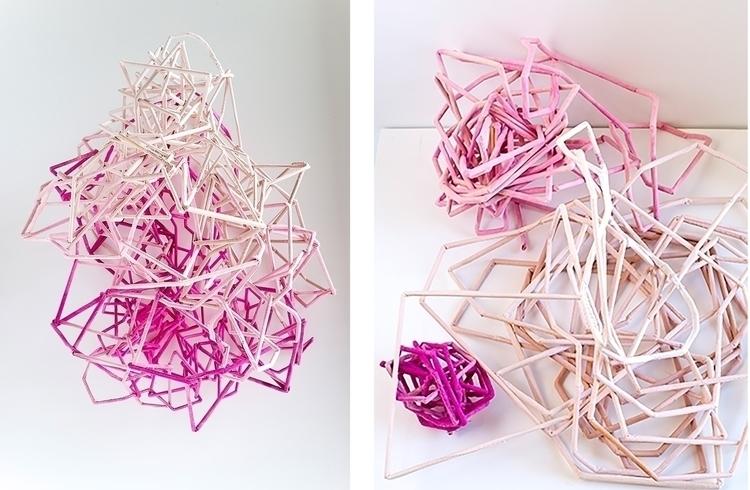 ‹Rosa variosa›, 2017 - textile, sketch - ellersikkje | ello