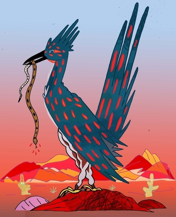 roadrunner - illustration, drawing - dylansgriffith | ello