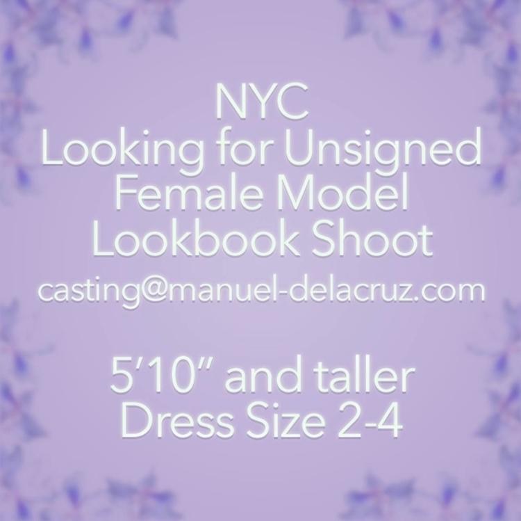NYC Unsigned Female Model. Look - manueldelacruz | ello
