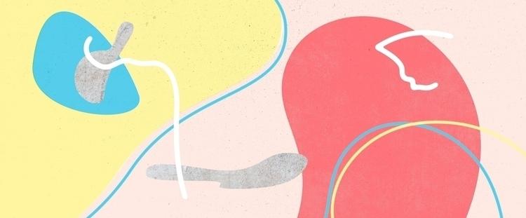 yellow, red, blue, concrete, line - renanferreira | ello