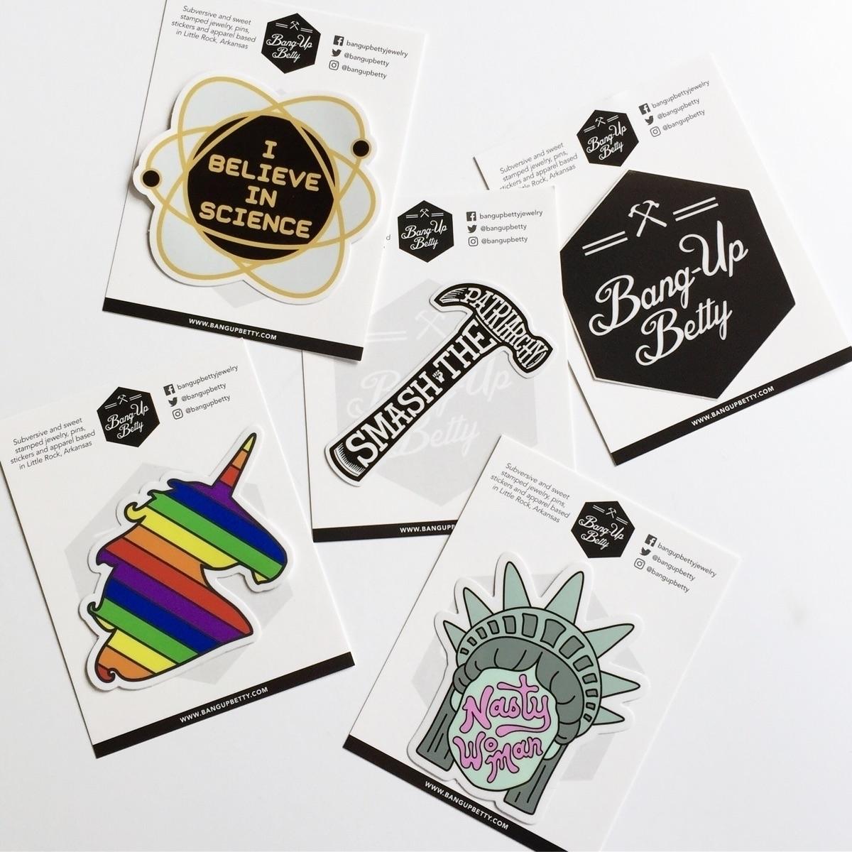 stickers retail ready - bangupbetty | ello
