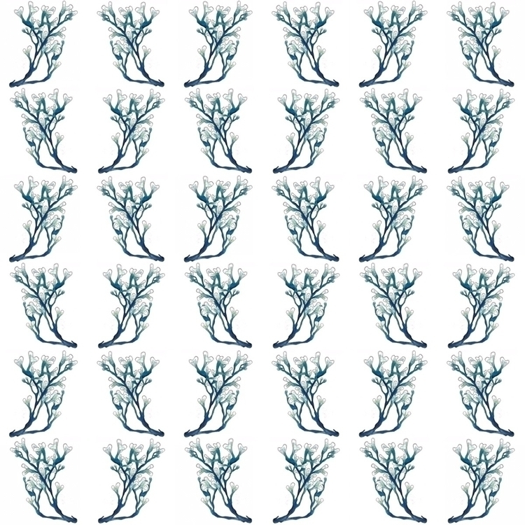 pattern, seaweed, design, nautical - aliellydesign   ello