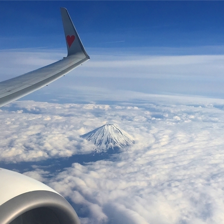 Flying Mt. Fuji heart wing - mtfuji - angora_onion | ello