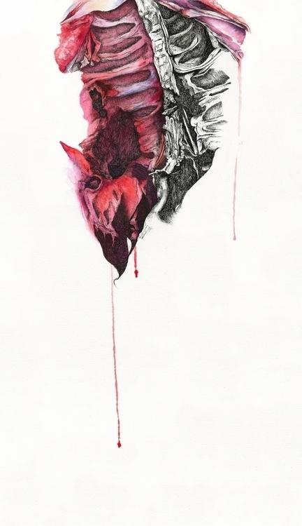 Martyr pen watercolor 22 15.5 - hannahward | ello