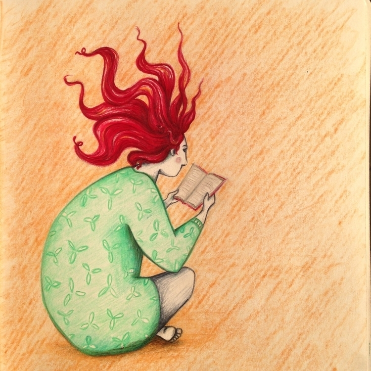 Electrifying books - sketching, coloredpencils - sonjastangl | ello